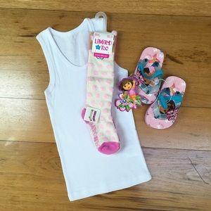 NWT Socks, Sandals, Tank 3 Pack